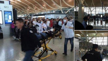 Вмеждународном аэропорту Шанхая произошел взрыв , имеется пострадавший