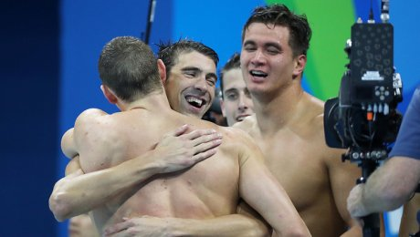 Пловец Майкл Фелпс завоевал свою 23 золотую олимпийскую медаль