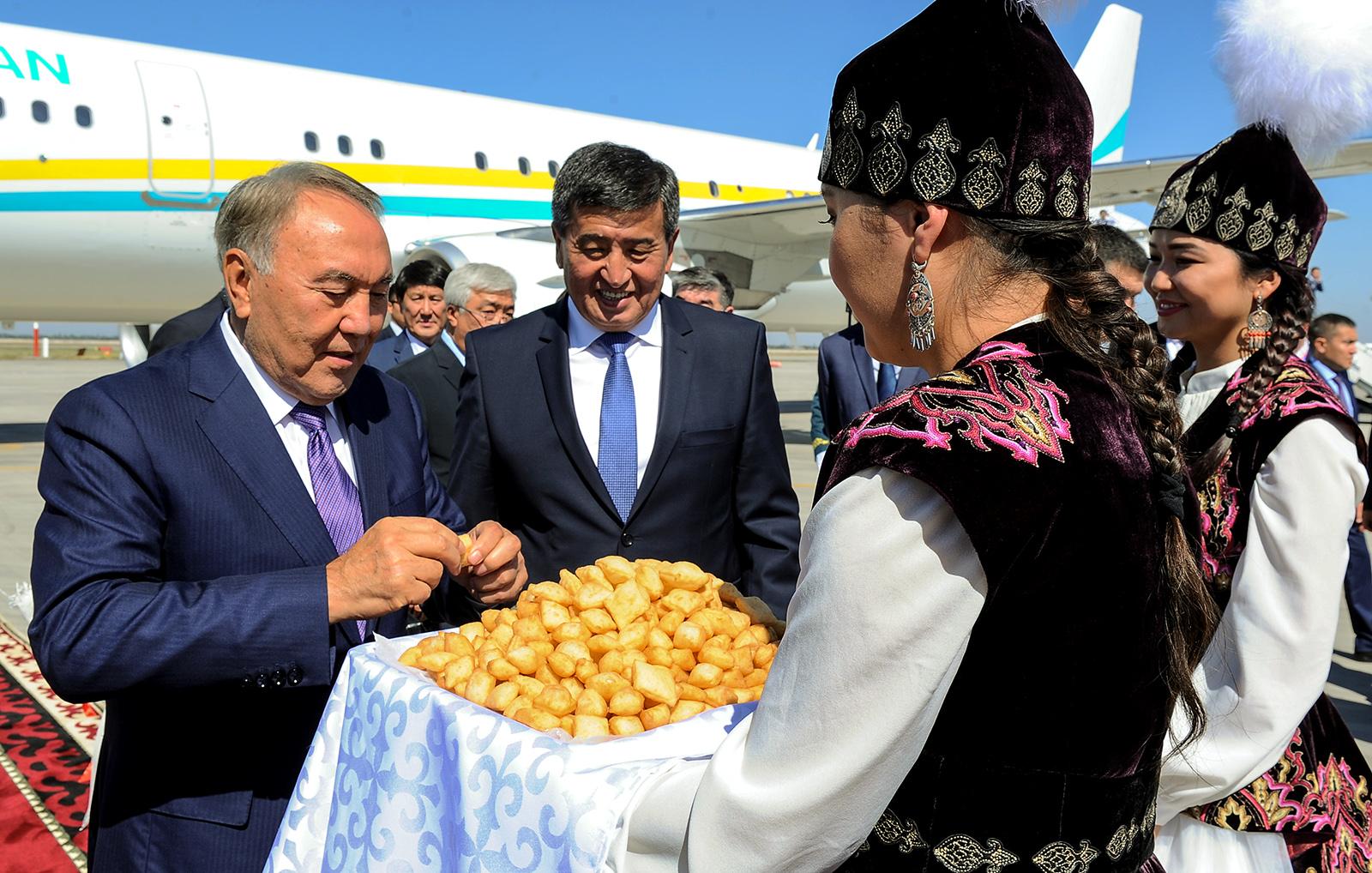 ВКыргызстан прибыл президент Казахстана Нурсултан Назарбаев