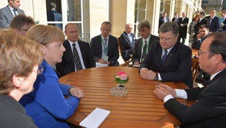 ВКремле назвали условия, необходимые для встречи «нормандской четверки»