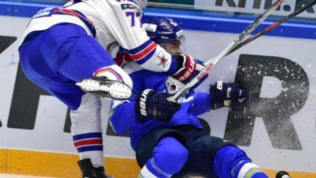 Три очка Гусева помогли СКА обыграть «Барыс»