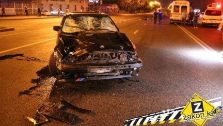 ВАлматы под колёсами «BMW» погибли 4 человека