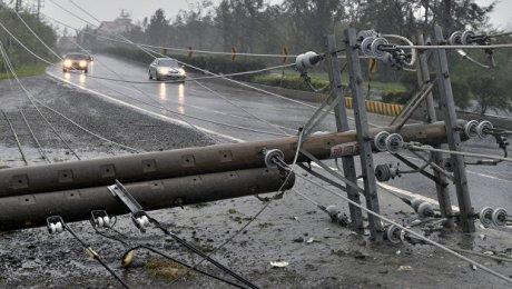 Тайфун «Меги» обесточил более 50-ти тыс. домов Тайваня