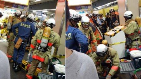 Газовая атака произошла втокийском метро, пассажиры отправлены вмед. учереждение