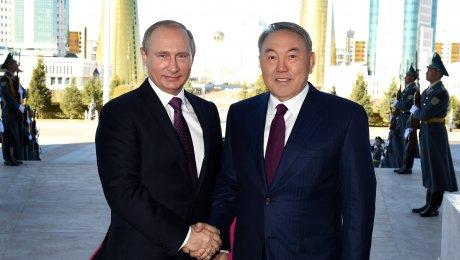 Путин прибыл вАстану навстречу сНазарбаевым