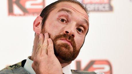Тайсон Фьюри отказался отчемпионских титулов WBO иWBA