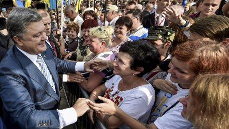 Три четверти жителей Украины неподдерживают Порошенко