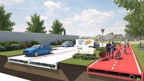 ВНидерландах кконцу следующего 2017-ого года появятся пластиковые дороги