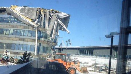 Размещено видео сместа крушения конструкции натерритории EXPO