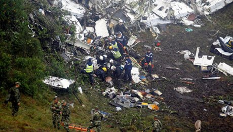 Около 27 человек погибли в итоге авиакатастрофы вКолумбии