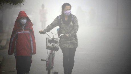 В24 городах Китая объявили наивысший уровень загрязнения воздуха