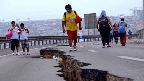Землетрясение вЧили вызвало знак обугрозе цунами