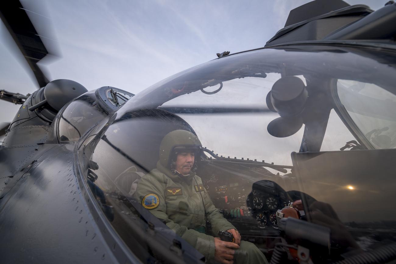 Первые вертолетыРФ Ми-35М поступили вВВС Казахстана