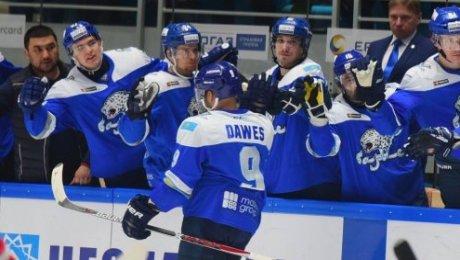 «Барыс» победил московский «Спартак» вконтинентальной хоккейной лиге