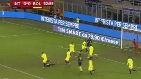 «Интер» едва прошел «Болонью» вКубке Италии