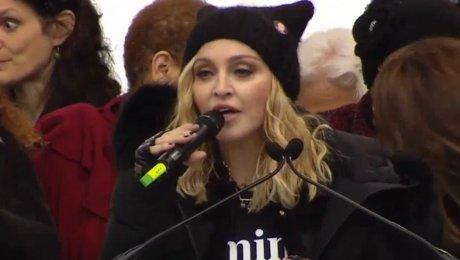 Мадонна нецензурно высказалась вадрес Трампа намитинге вВашингтоне