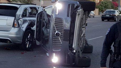 Uber остановил тесты беспилотных машин после ДТП вАризоне