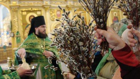 Православные христиане встречают Вербное воскресенье