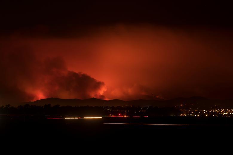 Последствия лесных пожаров вКалифорнии заставили содрогнуться очевидцев