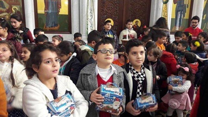 Дети Сирии получат новогодние подарки от русских школьников
