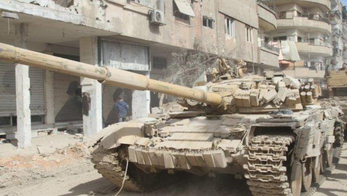 Американский беспилотник уничтожил советский Т-72 навостоке Сирии