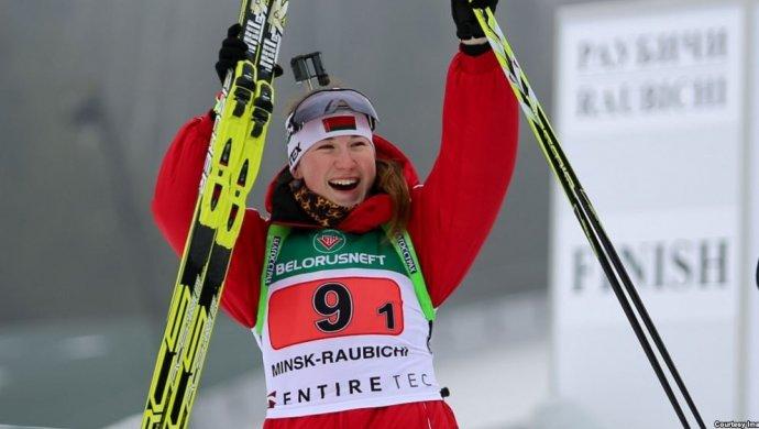 Женская сборная Республики Беларусь побиатлону сенсационно одолела вэстафетной гонке