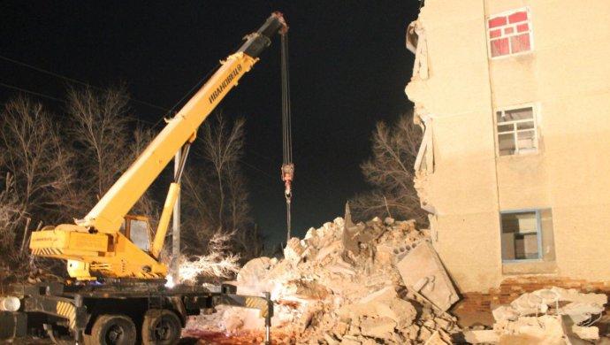 ВКызылорде обрушилась часть многоэтажного дома