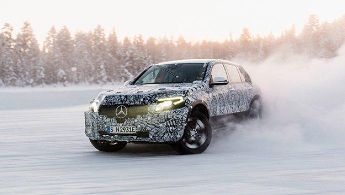 Benz проверил электрический кроссовер EQC холодом