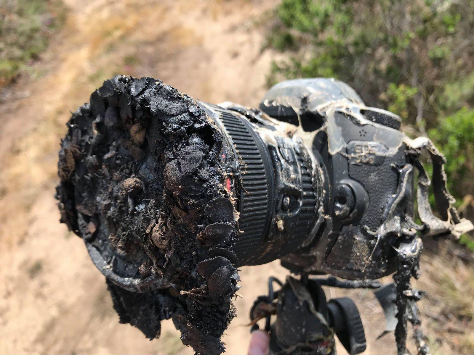 Как выглядит сгоревшая камера, снимавшая запуск ракеты Falcon 9