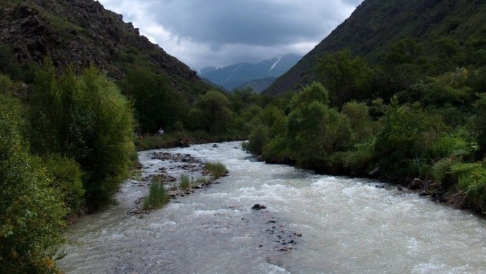 Русский  турист потонул  вгорной реке вКазахстане