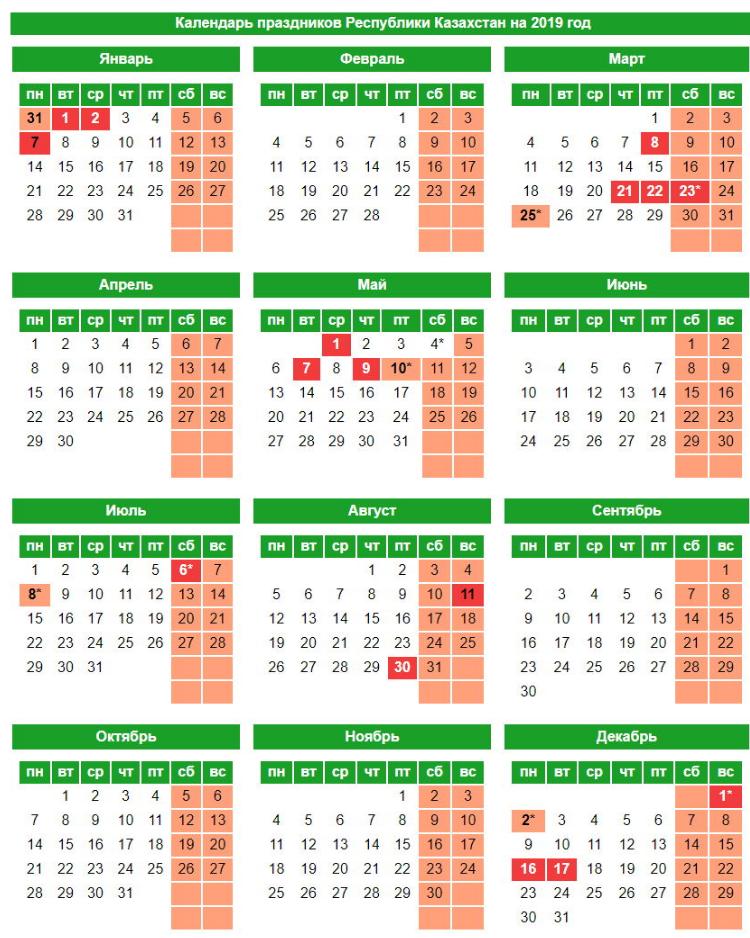 Август 2019 года: календарь праздничных и выходных дней