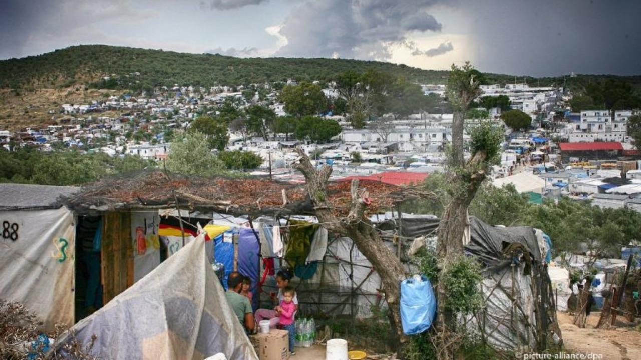 Пожар вспыхнул в крупнейшем лагере мигрантов в Греции