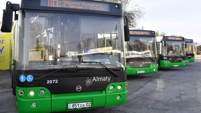 В Алматы новые автобусы выехали на маршрут №103 6928f952b1b