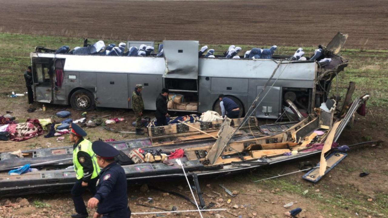11 погибших в ДТП близ Кордая: арестован водитель автобуса