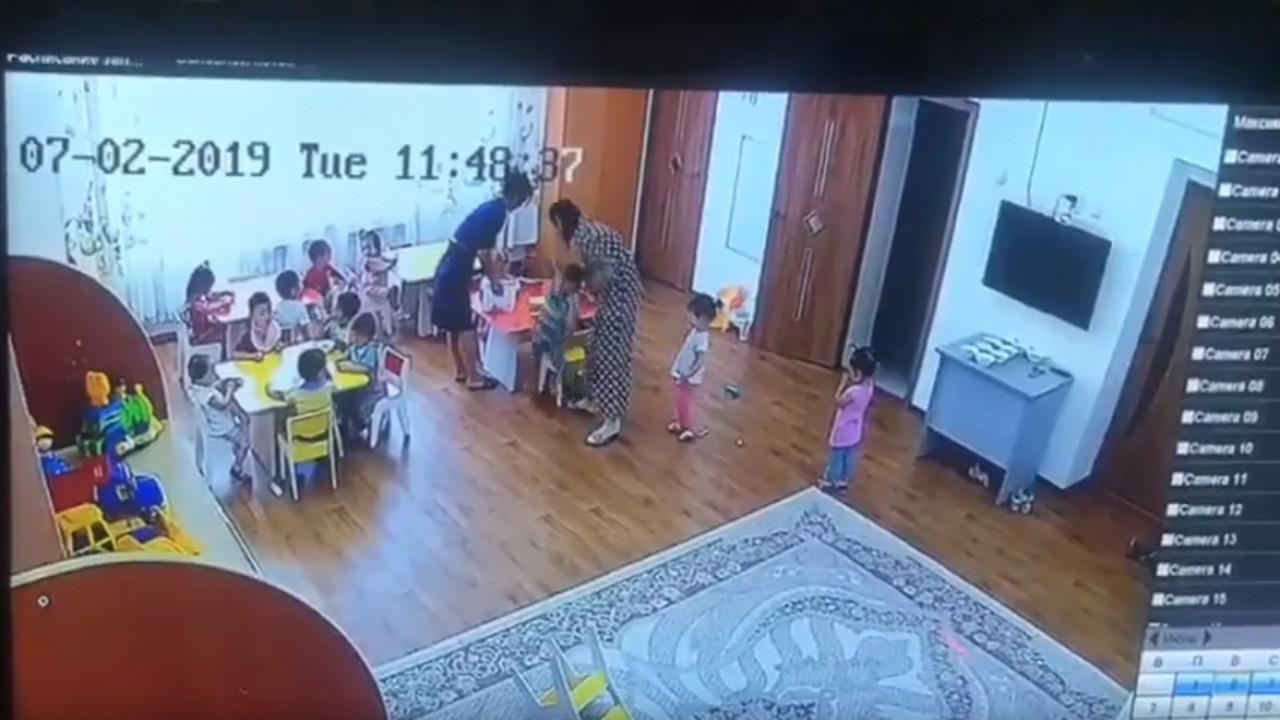Камера зафиксировала жестокое обращение с малышами в Талдыкоргане (ВИДЕО)