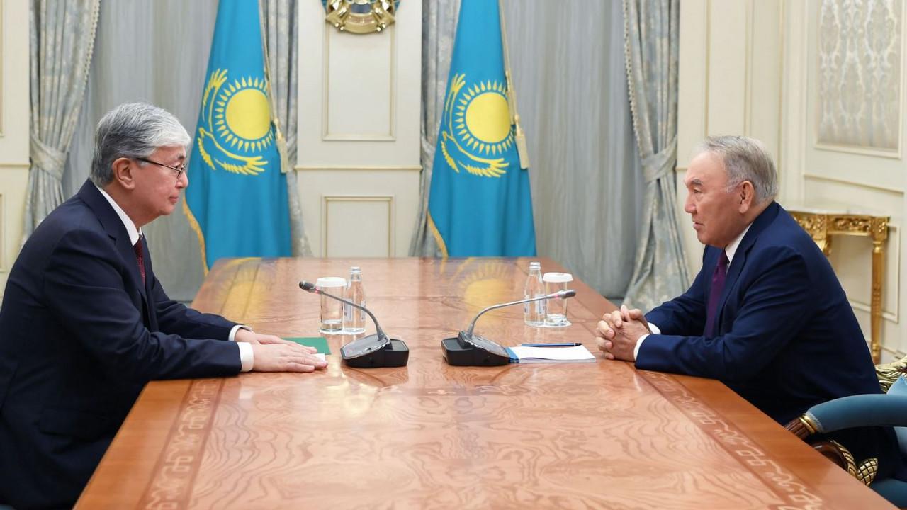 Токаев встретился с Назарбаевым