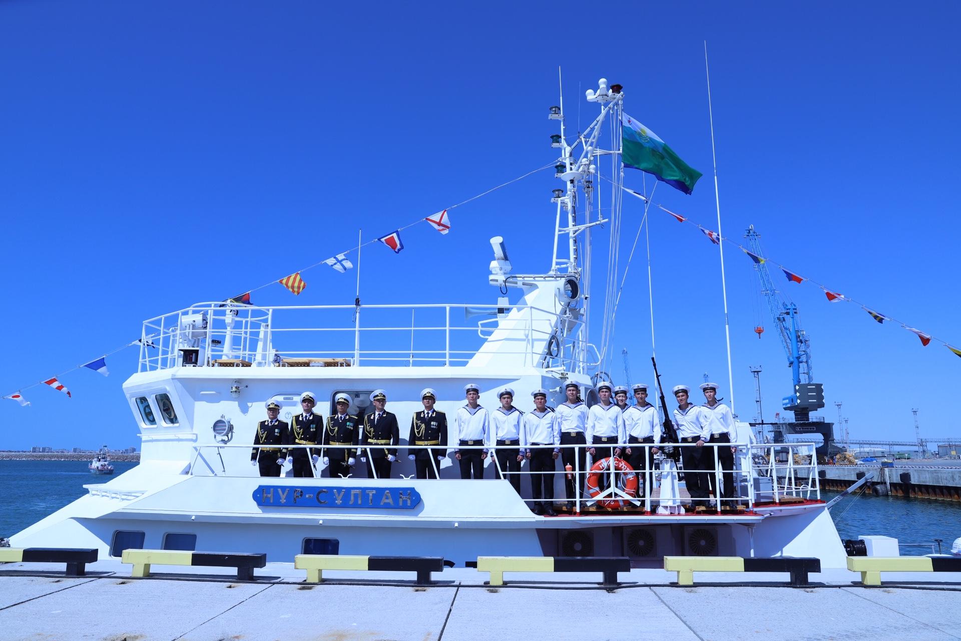 """Военный корабль """"Нұр-Сұлтан"""" спустили сегодня в море"""