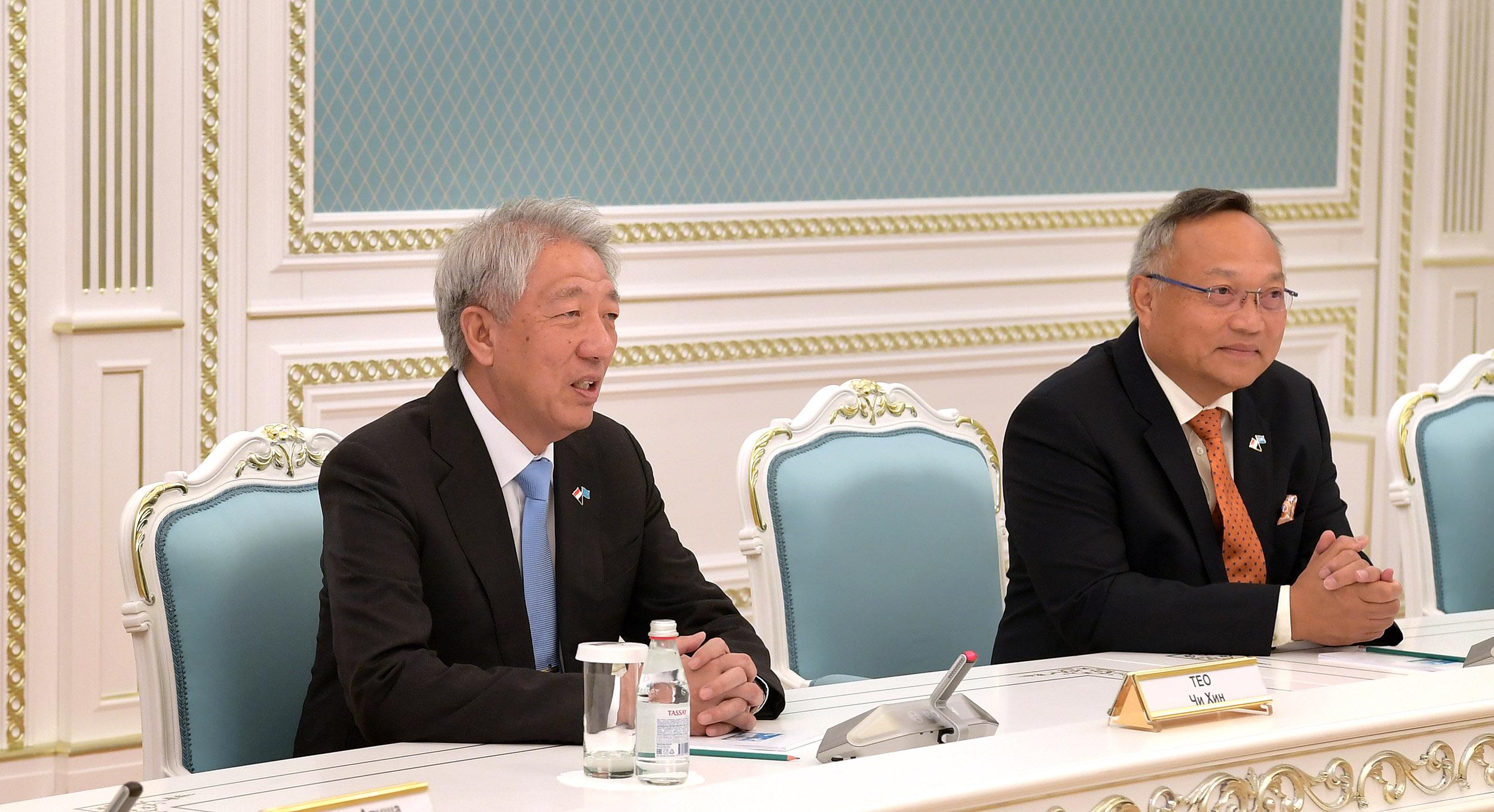 Касым-Жомарт Токаев принял старшего министра Сингапура 1