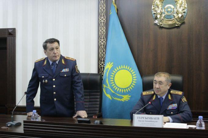 Полицию Жамбылской области возглавил первый замминистра МВД