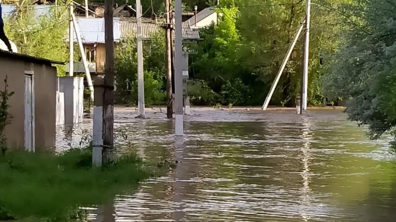 В Туркестанской области снова затопило дома