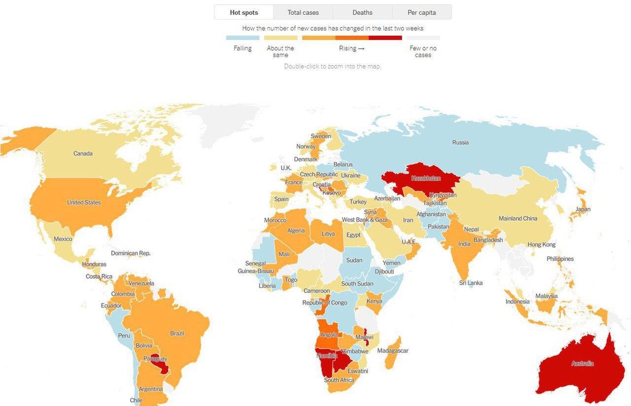 Глава Минздрава прокомментировал первое место Казахстана по COVID-19 в New York Times