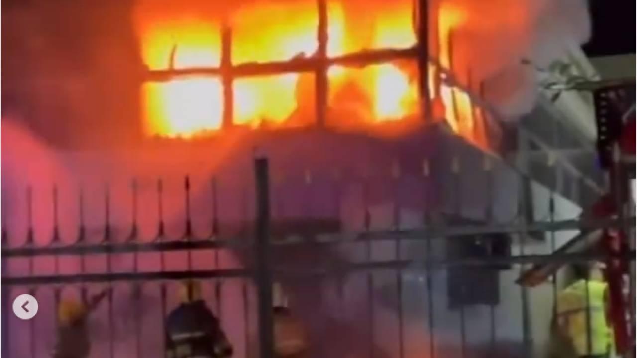 Здание полиции горело в Алматинской области